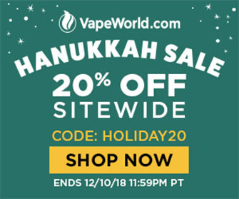 VAPEWORLD CYBER WEEK DISCOUNT