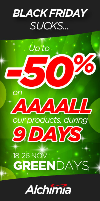 Green Days SALE @ Alchimia - 50% Off